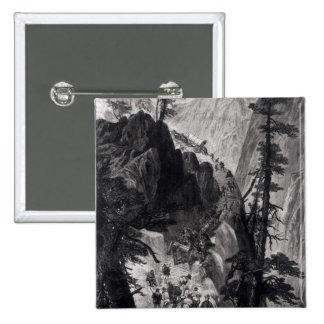Minas nuevamente descubiertas en las montañas roco pin cuadrada 5 cm