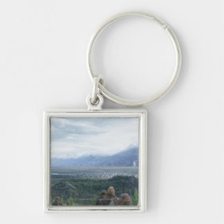 Minas Tirith in View Silver-Colored Square Keychain