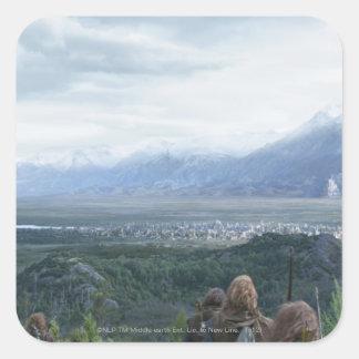 Minas Tirith in View Square Sticker