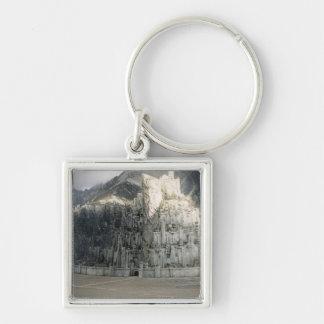 Minas Tirith Silver-Colored Square Keychain