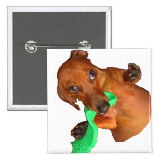 Minature Dachshund Button