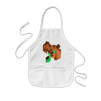 Minature Dachshund Kids' Apron