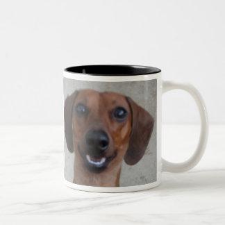 Minature Dachshund Two-Tone Coffee Mug
