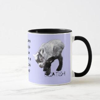 Minature Goat Scratching Riddle Coffe Mug