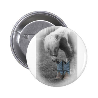 minature horse and boots button