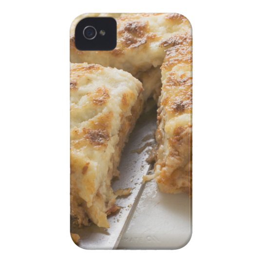 Mince lasagne, a portion cut iPhone 4 Case-Mate case