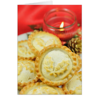 Mince pies for Christmas Greeting Card