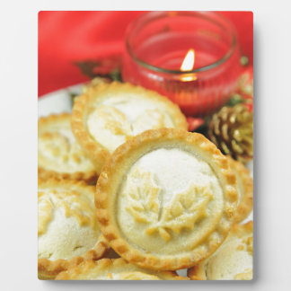 Mince pies for Christmas Plaque