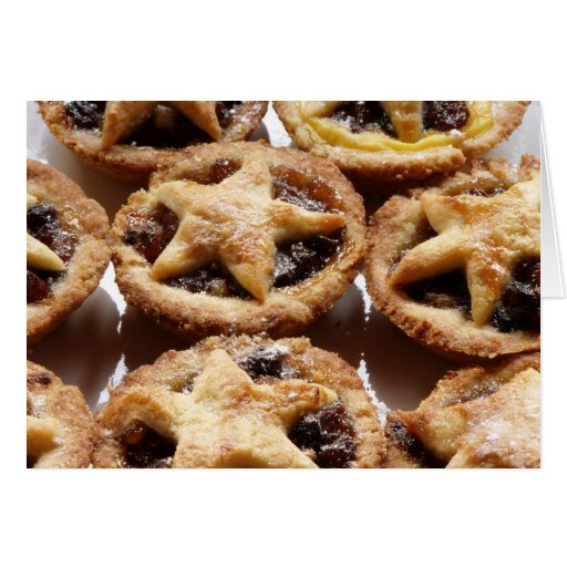 mince pies! greeting card