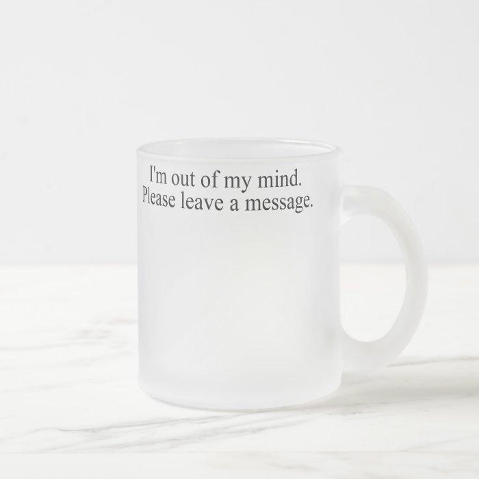Mind1 Frosted Glass Coffee Mug