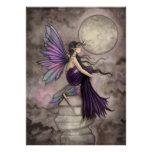 Mind Adrift Fantasy Fairy and Dragonfly Art Poster
