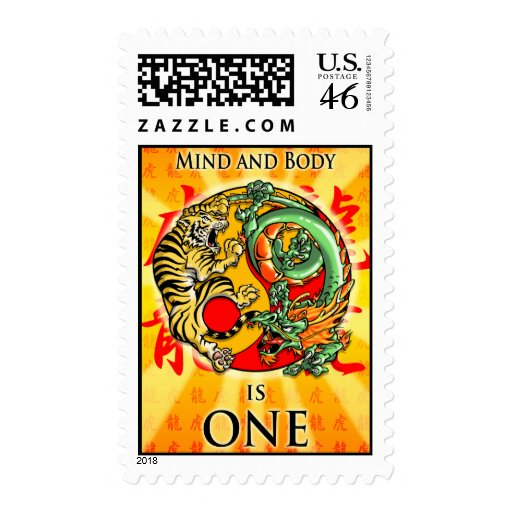 Mind and Body is One Postage Stamps