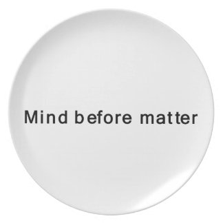 Mind Before Matter Party Plates