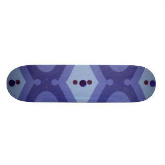 Mind Blowing Blue Deco Skateboard