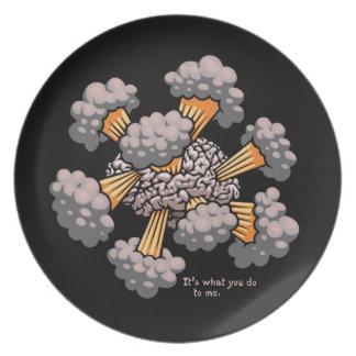 Mind Blown 917 Melamine Plate
