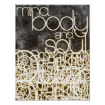 Mind, Body and Soul1 by Mansa Pryor Print