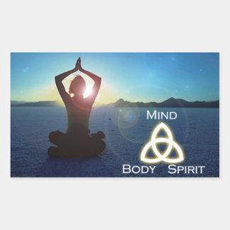 Mind, Body and Spirit Rectangular Sticker