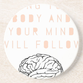 Mind Body Fellowship AA Meeting Recovery Sandstone Coaster