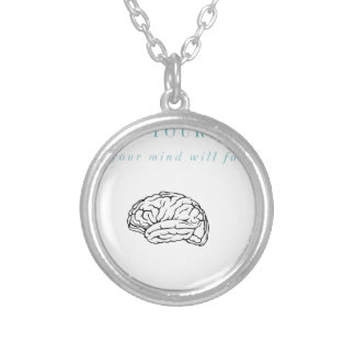 Mind Body Fellowship AA Meeting Recovery Silver Plated Necklace