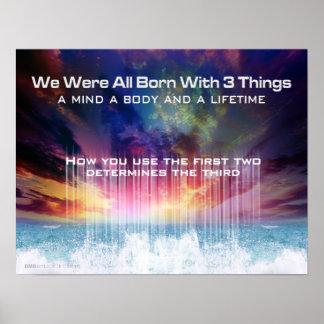 Mind Body Life Print
