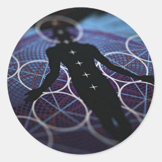 Mind, Body & Soul Classic Round Sticker