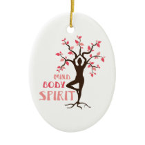 Mind Body Spirit Ceramic Ornament