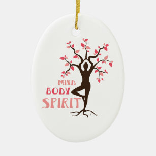 Mind Body Spirit Ceramic Ornament