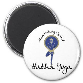 Mind Body Spirit Hatha Yoga 2 Inch Round Magnet