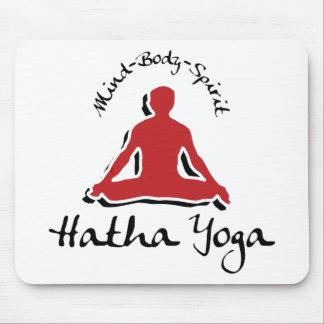 Mind Body Spirit Hatha Yoga Mouse Pad