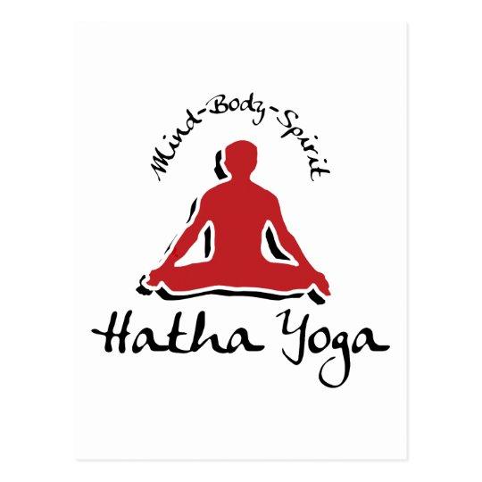 Mind Body Spirit Hatha Yoga Postcard
