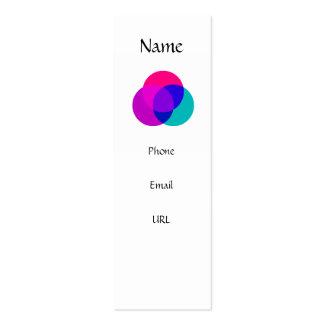 Mind, Body, Spirit - profile template Mini Business Card