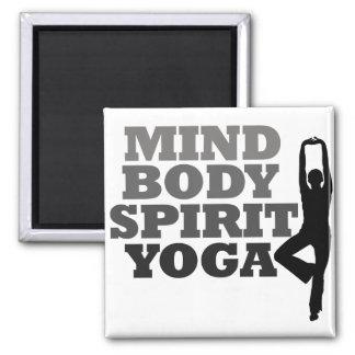 Mind Body Spirit YOGA 2 Inch Square Magnet
