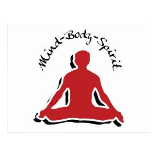 Mind Body Spirit Yoga Gift Post Card