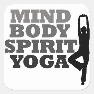 Mind Body Spirit YOGA Square Sticker