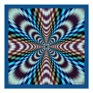 Mind-Boggling Vibrations Optical Illusion Poster