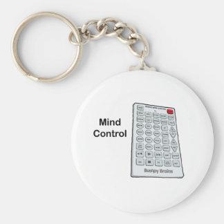 Mind Control Basic Round Button Keychain