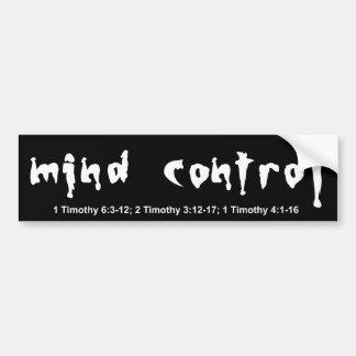 mind control bumper sticker car bumper sticker