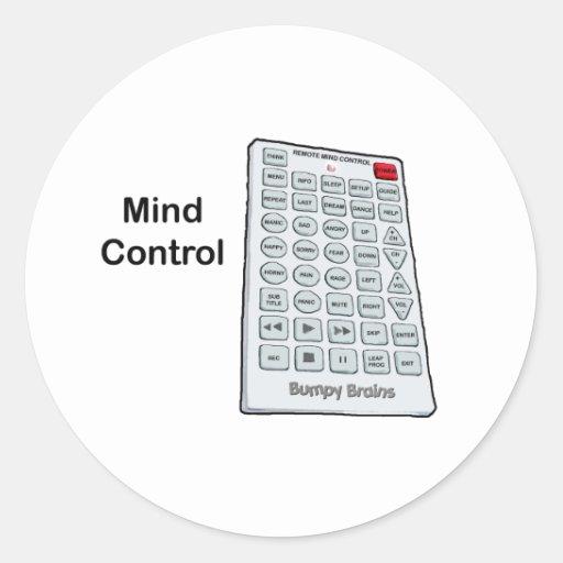 Mind Control Classic Round Sticker