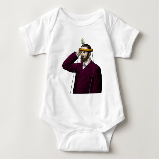 Mind Control Contraption Steampunk Baby Bodysuit