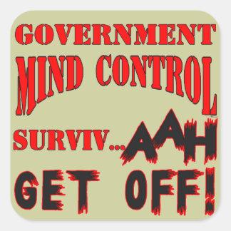 Mind Control Square Sticker