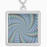 Mind Destroyer - Fractal Art Silver Plated Necklace