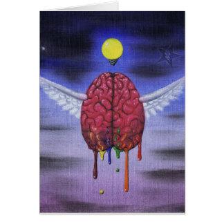 mind has wings greeting card
