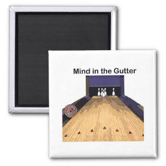 Mind in the Gutter 2 Inch Square Magnet