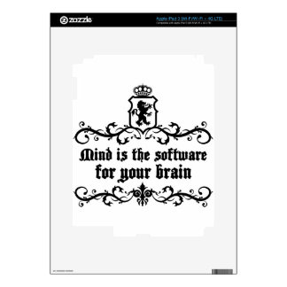 Mind Is A software For Your Brain Medieval quote iPad 3 Decal