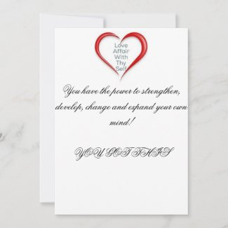 Mind Love Reminder Thank You Card