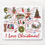 Mind Map of Christmas Mousepads