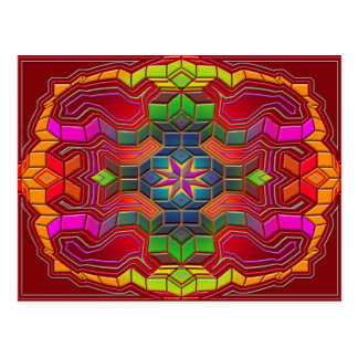 mind maze postcard