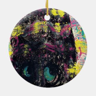 Mind of the Cat Ceramic Ornament