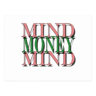 Mind on my money, money on my mind postcard