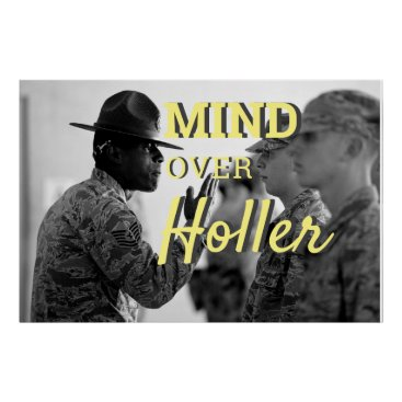 Mind Over Holler Army Soldier Boot Camp Cadet Poster